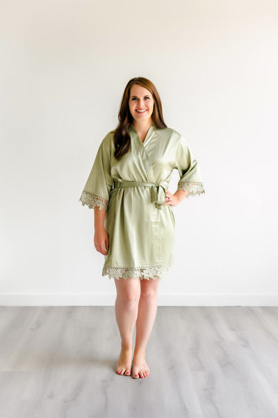 Bridesmaid Robes - Sage Green