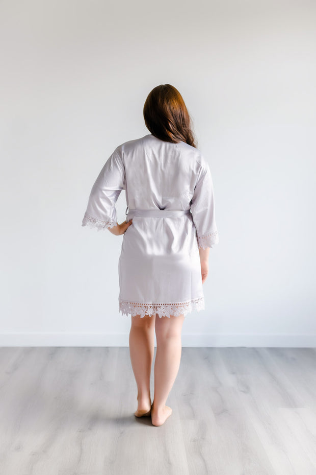 Bridesmaid Robes - Silver