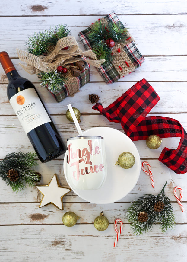 Jingle Juice Wine Tumbler