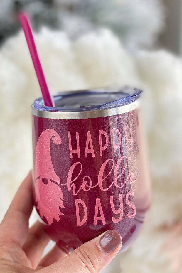 Christmas Tumbler - Happy Holla Days