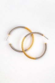 First Date Hoop Earrings - Gray