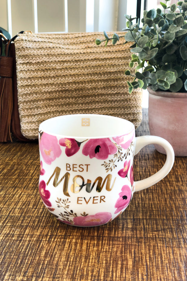 Best Mom Ever Hourglass Coffee Cup