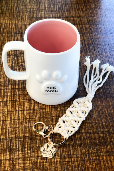 Dog Mom Paw Print Coffee Mug