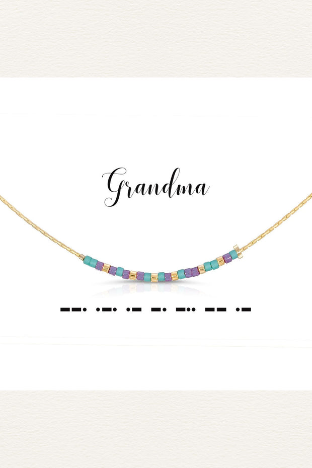 Morse Code necklace - Grandma