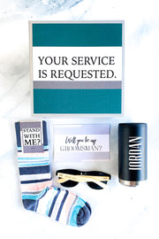 Groomsmen Proposal Box - Stainless Steel Tumbler - Your Service is Requested