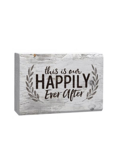 Small Block Sign - This Is Our Happily Ever After