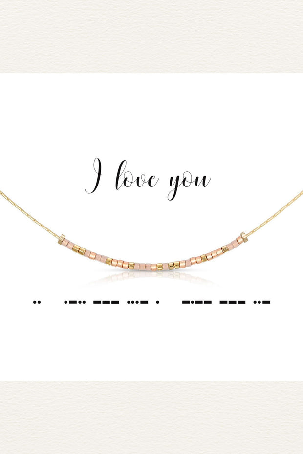 Morse Code Necklace - I Love You
