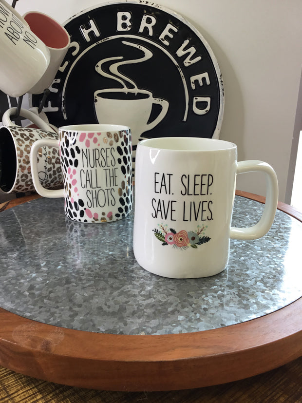 Nurse Appreciation Coffee Mug - Eat Sleep Save Lives