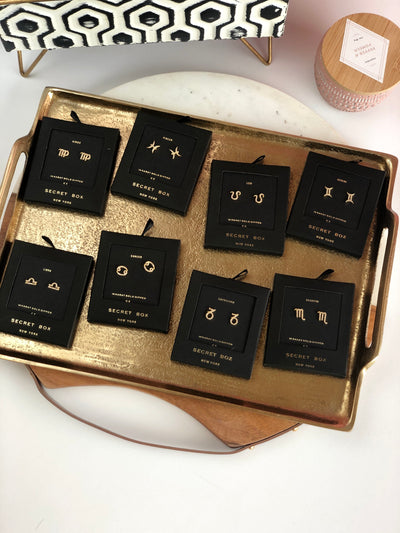 Secret Box Zodiac Earring Studs