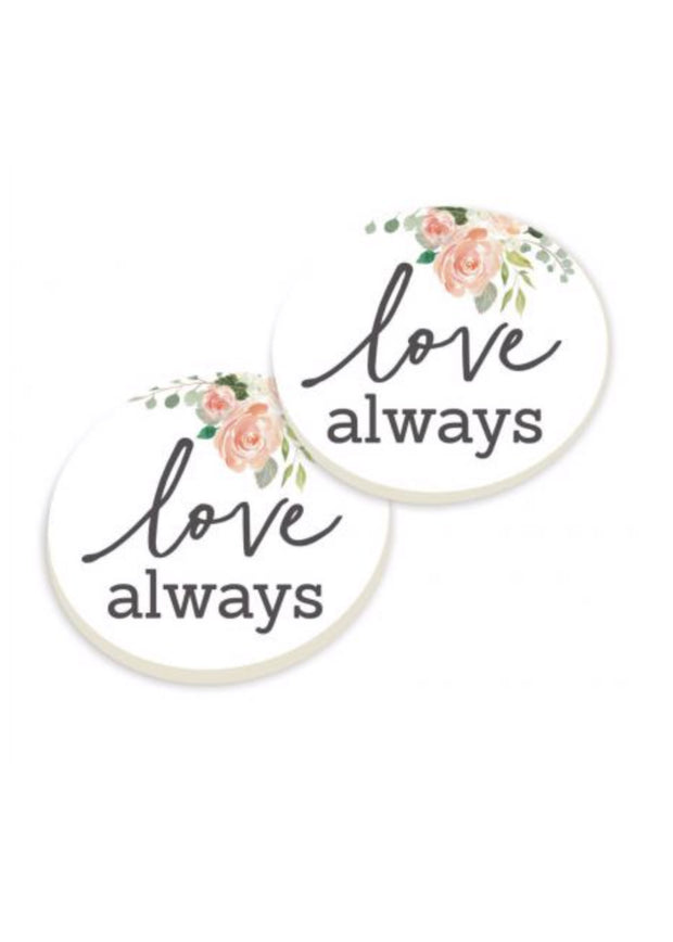 Love Always Car Coaster Set