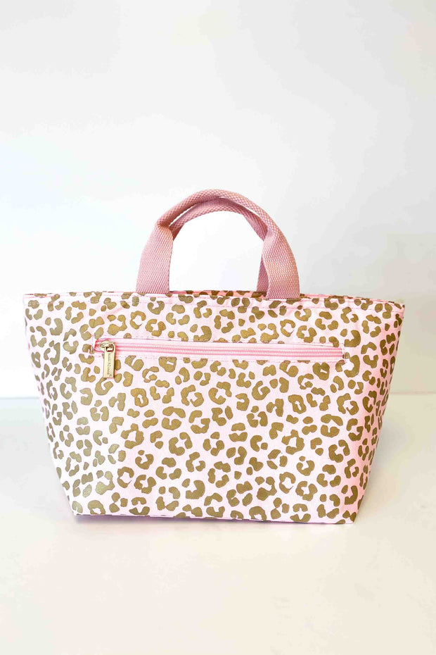 Blush Leopard Insulated Cooler Lunch Bag