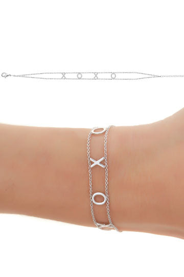 Maya J Empowered Bracelet that says XOXO