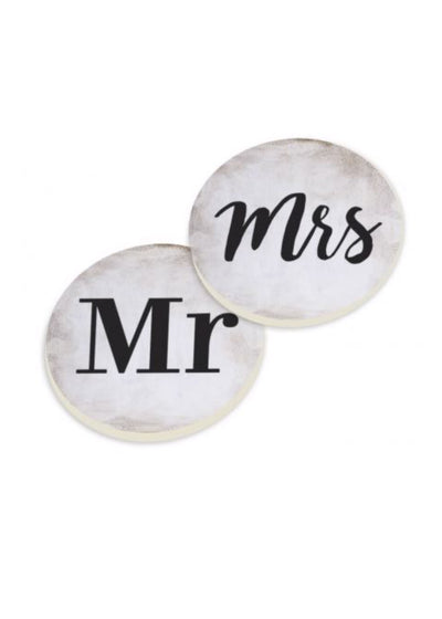 Mr & Mrs Car Coaster Set