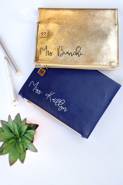 Personalized Journal with Zipper Pocket