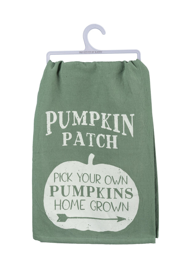 Pick Your Own Pumpkin Patch Dish Towel - Green