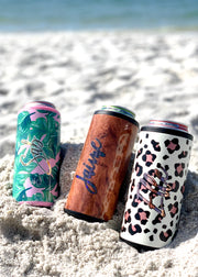 Slim Can Coolers for Girls Trip tumblers, Beach Vacation can coolers or Spring Break party favors