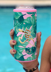 Skinny Can Holders for Girls Trip tumblers, Beach Vacation can coolers or Spring Break party favors