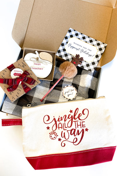 Teacher Christmas Gift Box - Jingle All The Way
