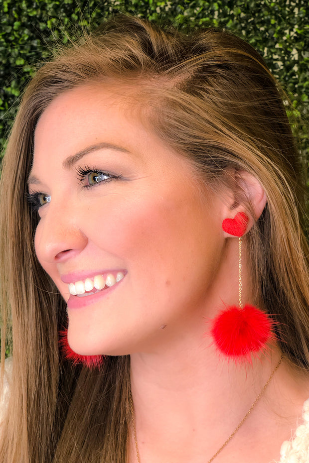 Red Heart Earrings - Perfect earrings for Valentine's Day