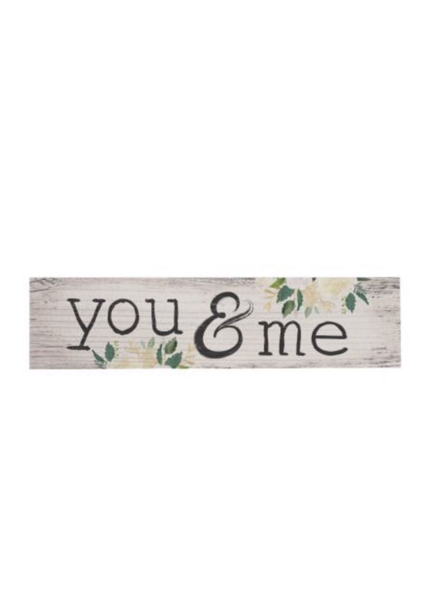 You & Me Magnet Sign