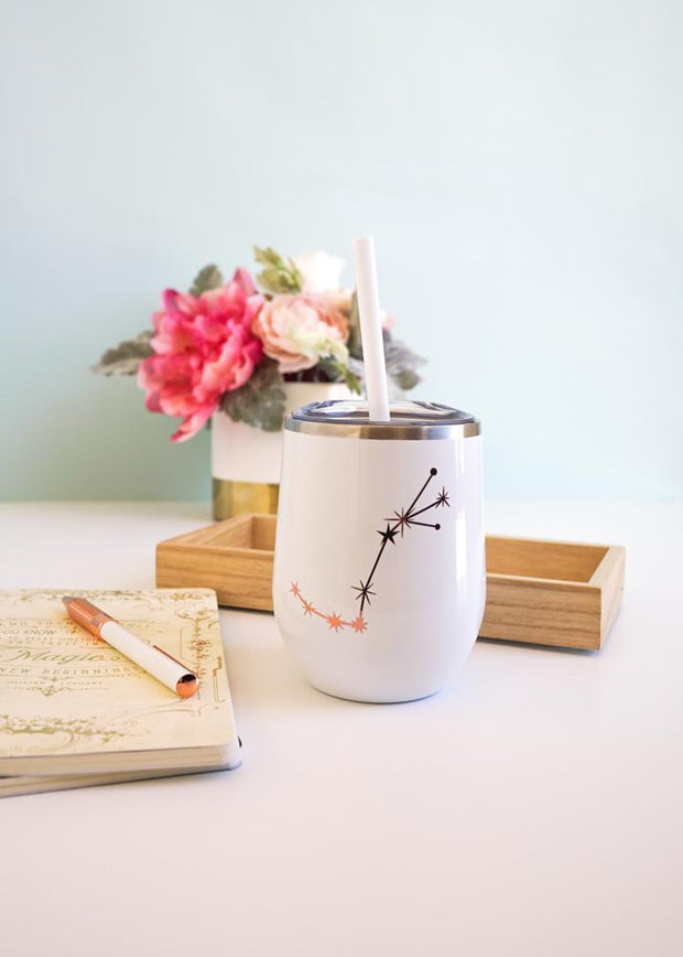 Zodiac Sign Wine Tumbler