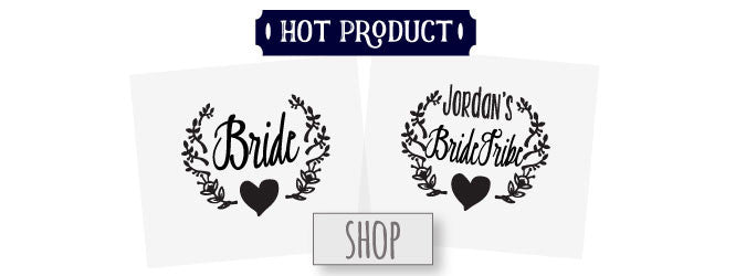Bride Tribe Tattoos are so hot right now! These temporary tattoos are a fun & easy way to bond with your gals at a bachelorette bash, wedding shower, or day of.