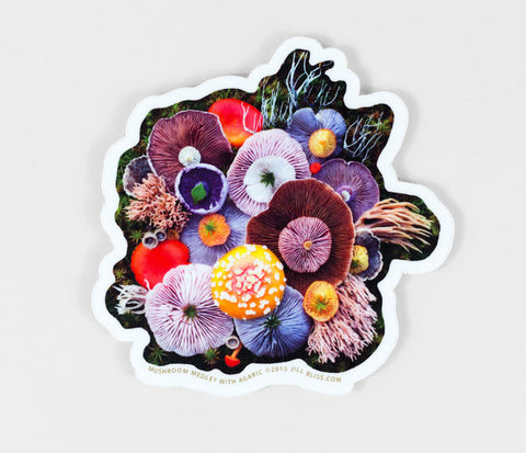 Jill Bliss Mushrooms Sticker
