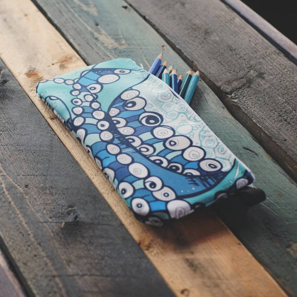 Octopus Ink Zippered Pouches