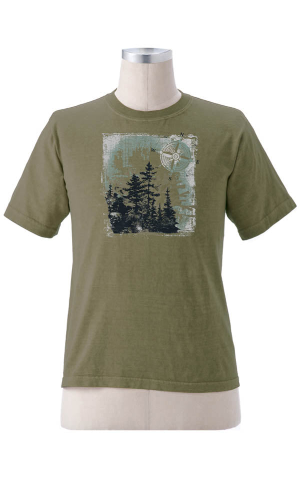 Compass Forest Clay Dyed T-Shirt