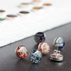 Your favorite Circuit Board studs - now in Sterling Silver!