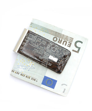 Rectangular Circuit Board Money Clip
