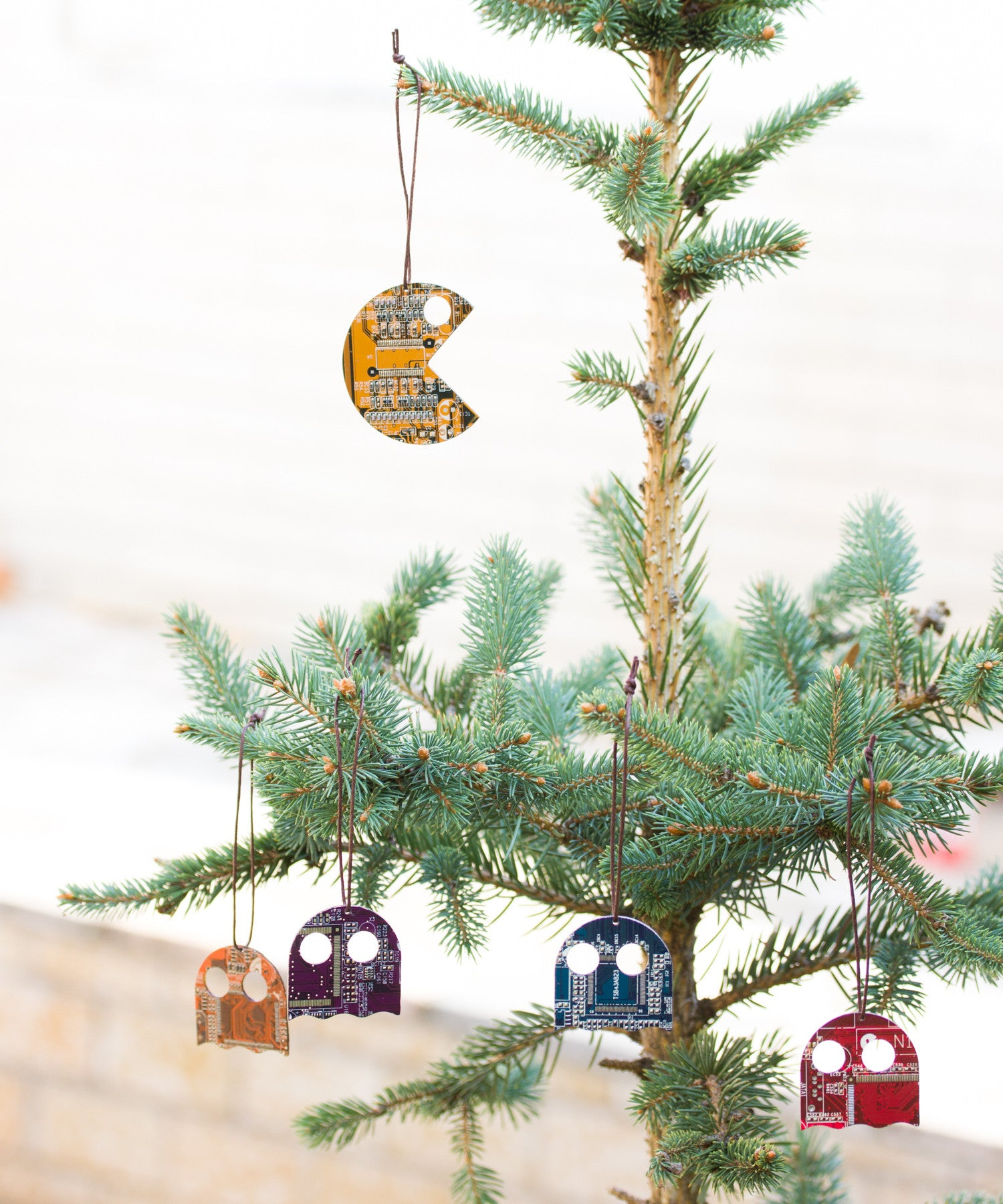 Pacman inspired Christmas Tree ornament