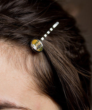 Geeky hair pin made of circuit board, 2pcs