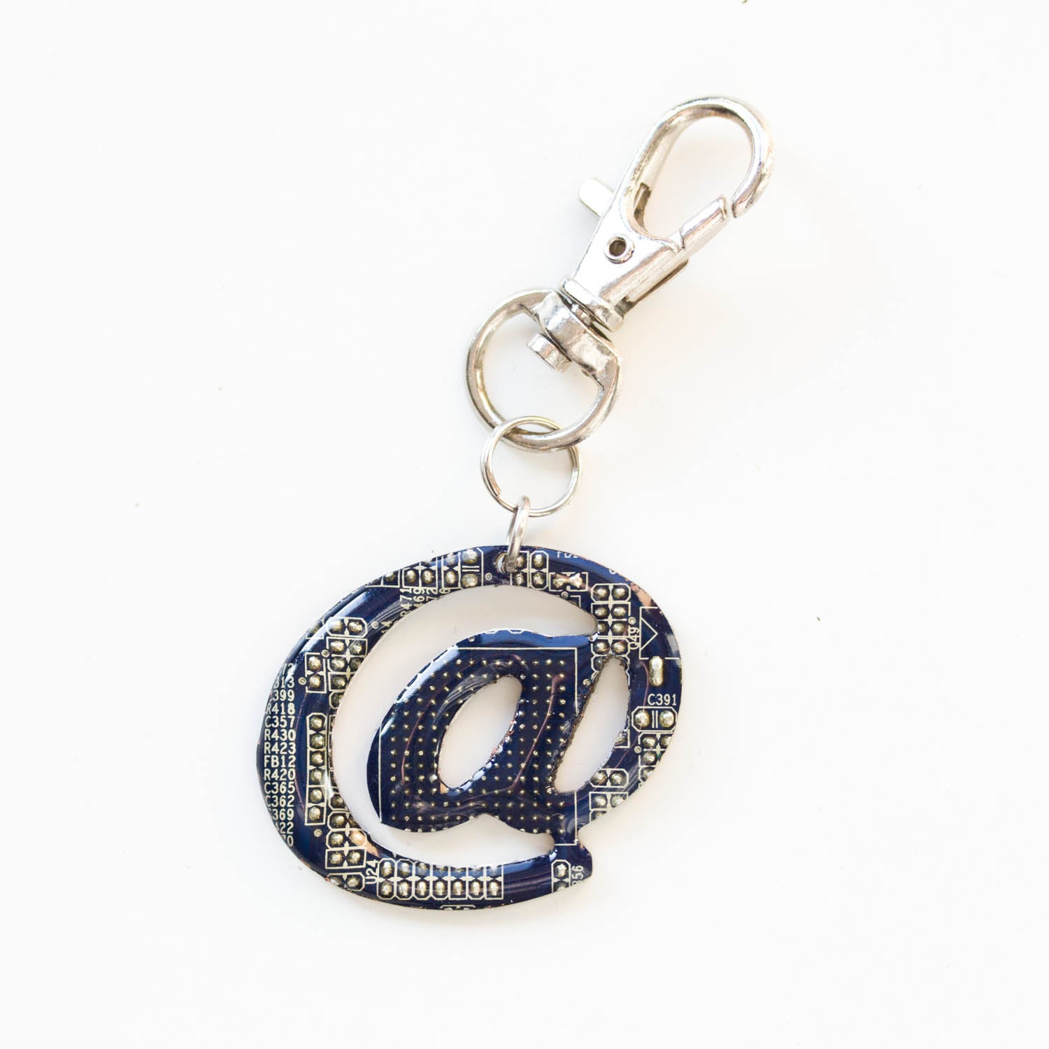 Geek At symbol keychain