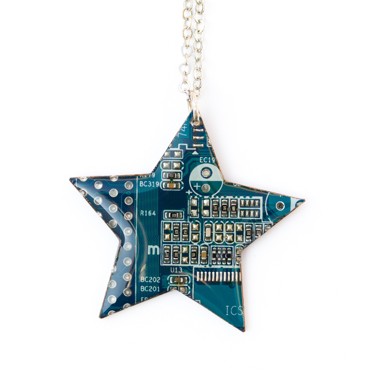 Circuit board Star necklace