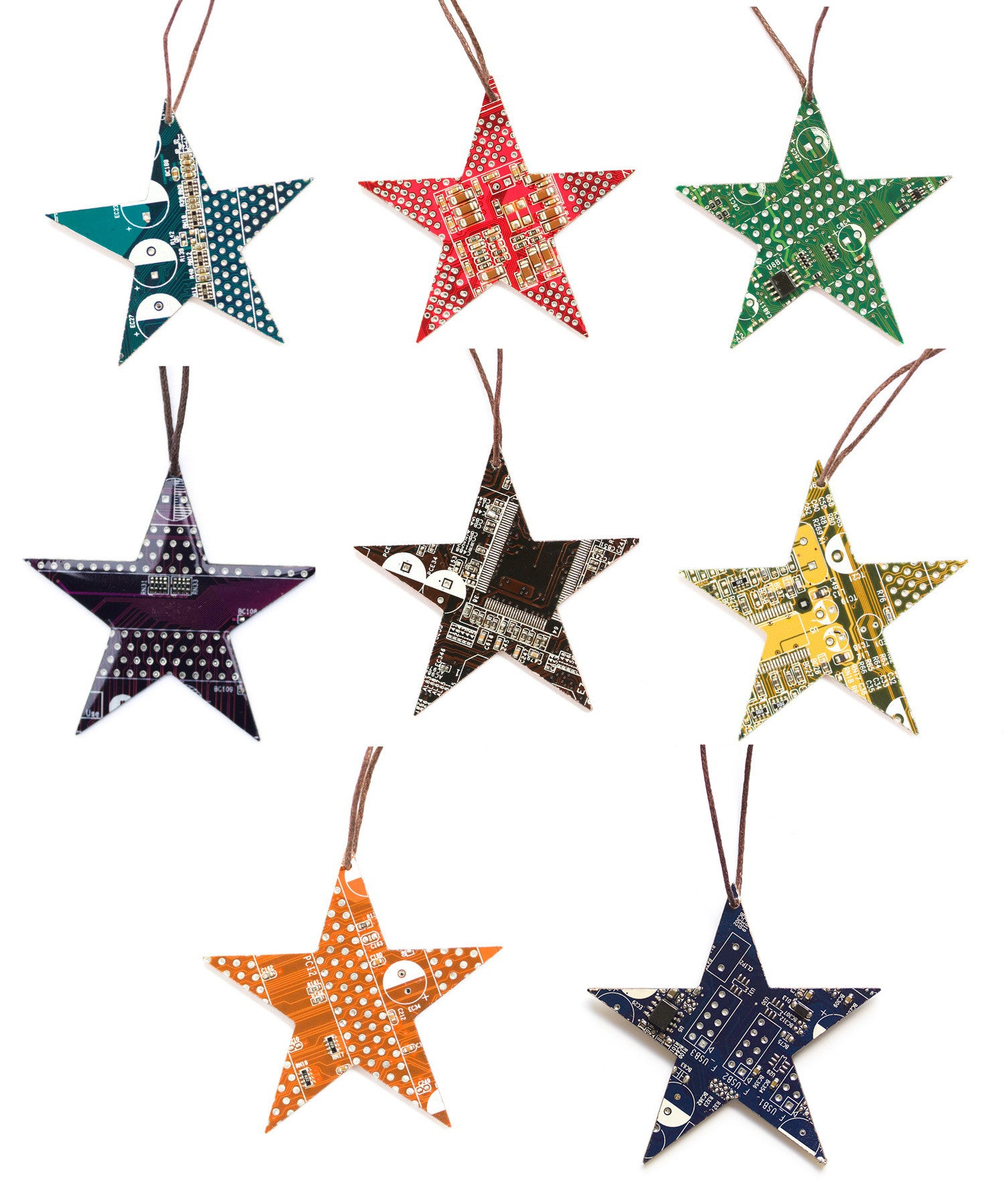 Christmas tree ornament, star, no resin
