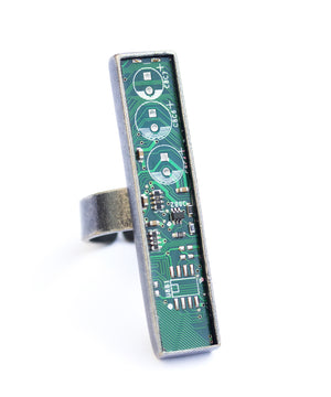 Big Circuit Board Statement ring