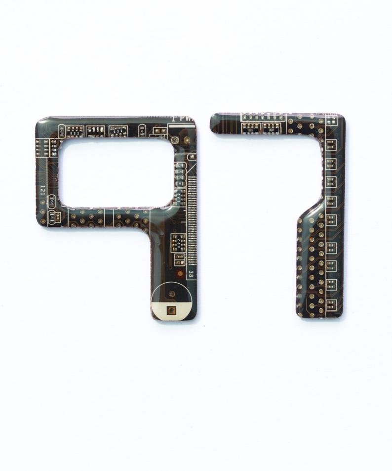 Circuit board door numbers, small 2 inch or 5cm