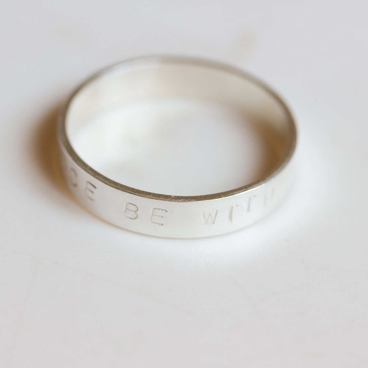 Custom Roman numeral ring - hand stamped men's sterling silver ring