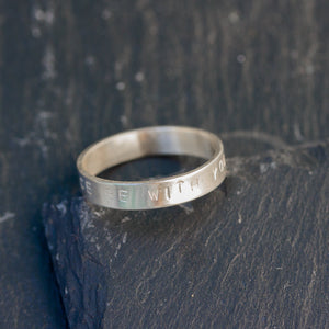 May the force be with you - men's sterling silver ring