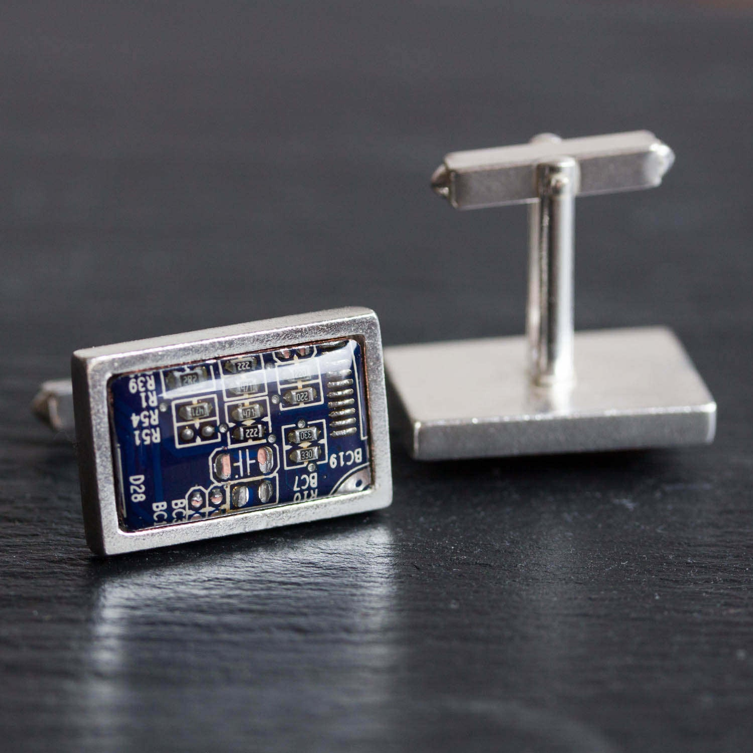 Luxury circuit board cufflinks for men