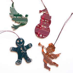 Christmas ornament set - Pick your quantity, shape and colors