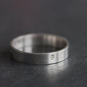Hashtag ring - hand stamped sterling silver ring