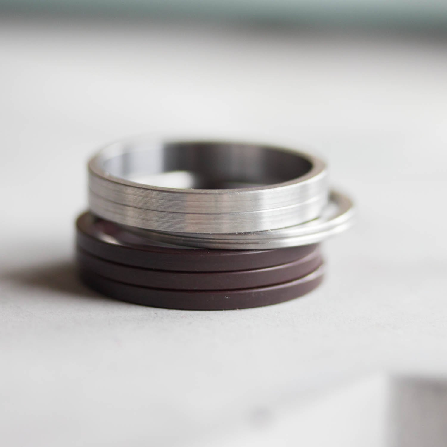 Unique Ring made of recycled HDD motor parts