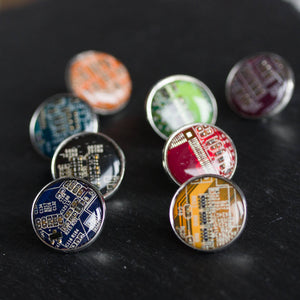 Circuit board pin, 18 mm silver