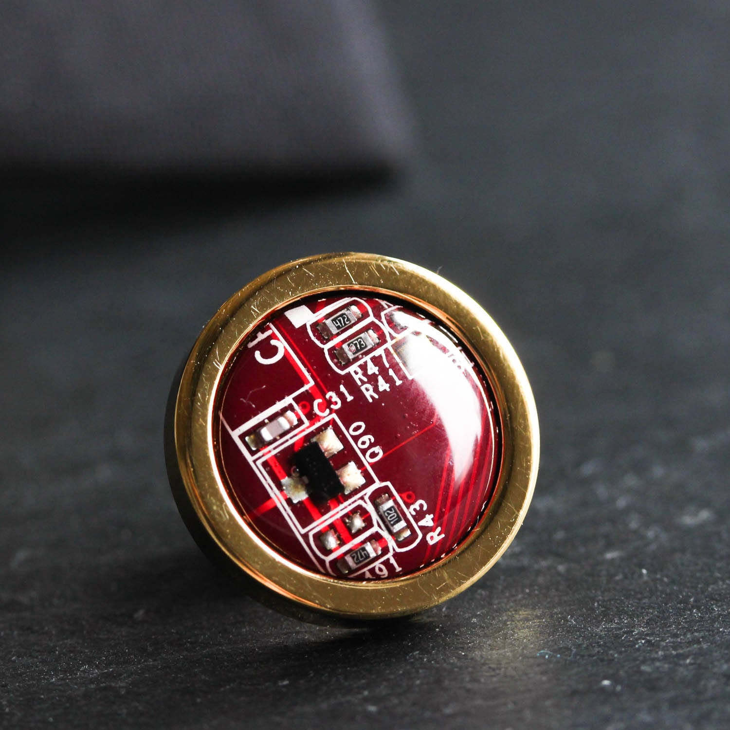 Circuit board tie pin, golden pin