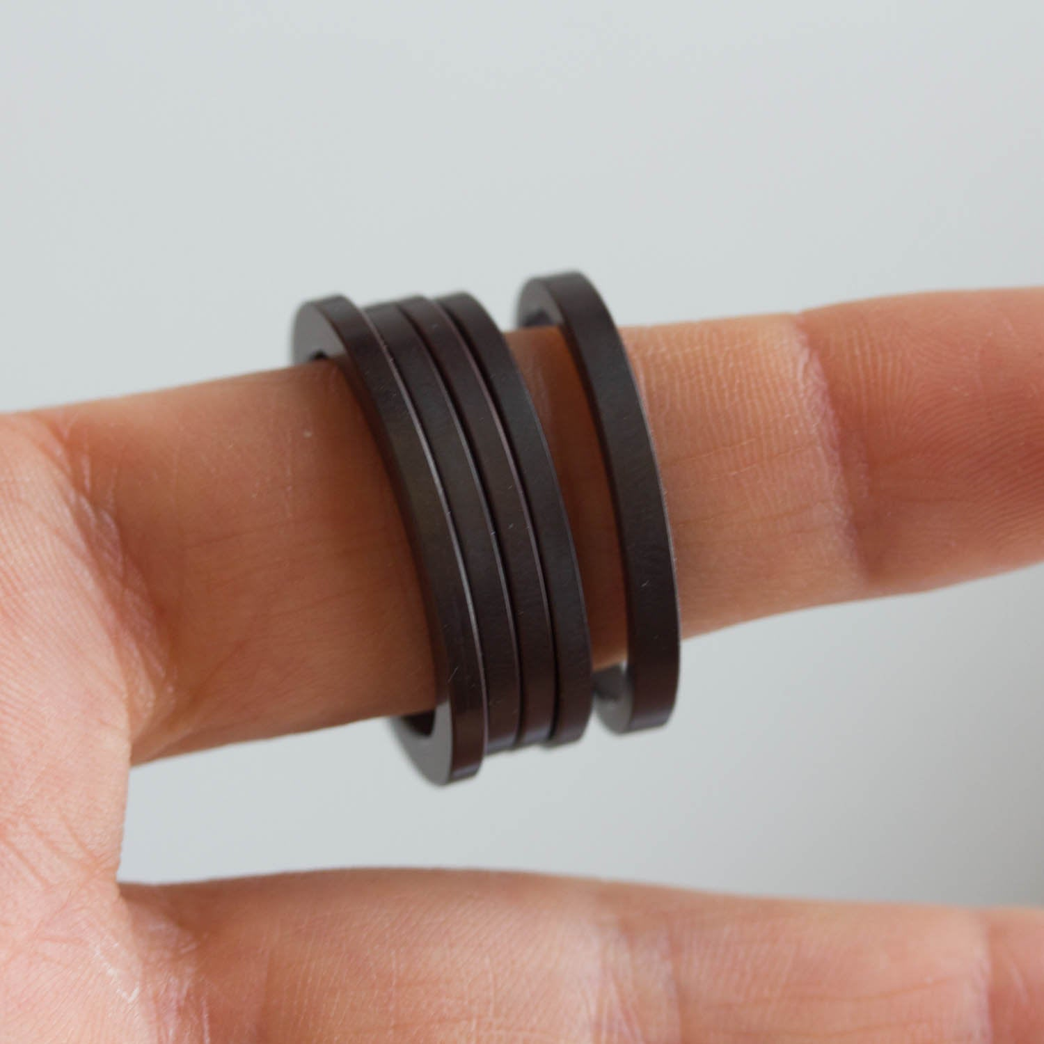 Unique Ring made of recycled HDD motor parts - unisex, men's ring