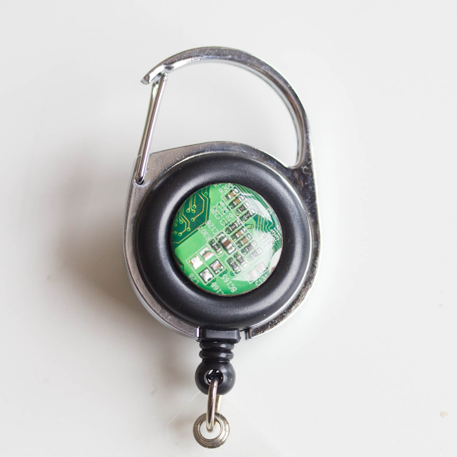 Retractable badge holder, recycled Circuit board, retractable lanyard