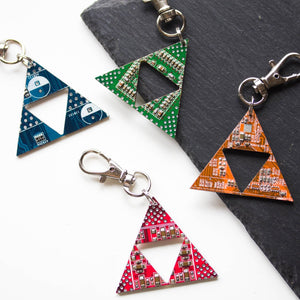 Legend of Zelda keychain, Circuit board keychain or bag tag