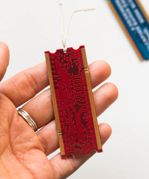 Circuit board bookmark, Recycled computer bookmark, gift for techie nerd